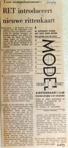 19690923 RET introduceert nieuwe rittenkaart