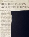 19690925 Tijdelijke oplossing Zuidplein.