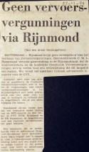 19691127 Geen vergunning via Rijnmond.