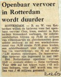 19691202 Openbaar Vervoer in Rotterdam wordt duurder