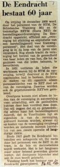 19691212 De Eendracht bestaat 60 jaar