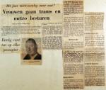 19700102 Vrouwen gaan trams en metro besturen