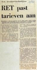 19700307 RET past tarieven aan