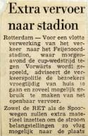 19700310 Extra vervoer naar het Stadion