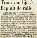 19700310 Tram van lijn 5 uit de rails