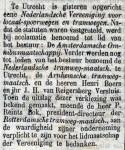 18810323 Oprichting vereniging. (De Tijd)