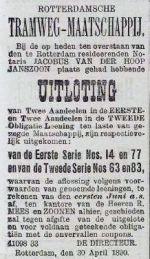 18900505 Uitloting. (RN)