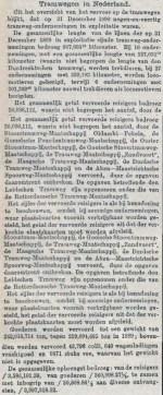 18920222 Tramwegen in Nederland. (NvdD)