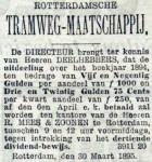 18950401 Uitkering op aandelen. (RN)