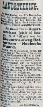 18961207 Aanbesteding. (RN)