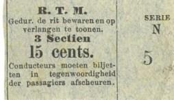 Voor volledige ritten over de langste paardentramlijnen moest 15 cents worden betaald.