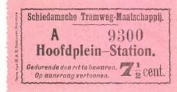 In 1908 werd het tarief voor de gehele rit verhoogd naar 7,5 cent. Voor iedere richting bestond er een apart kaartje in een verschillende kleur.