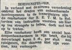 19131014 Hoedenspelden. (Tilburgsche Courant)
