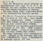 19140909 Vervoerscijfers en wachthuisje. (RN)