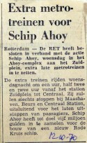 19701012 Extra metrotreinen voor Schip Ahoy