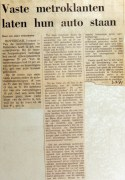 19710303 Vaste metroklanten laten hun auto staan