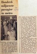 19710304 Honderdmiljoenste passagier in metro (RN)