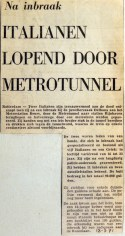 19710318 Italianen lopend door metrotunnel