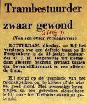 19710525 Trambestuurder zwaar gewond.