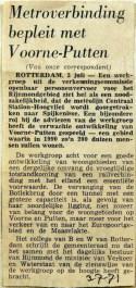 19710703 Metroverbinding bepleit met Voorne-Putten