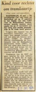 19710722 Kind voor rechter om tramkaartje