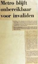 19710729 Metro blijft onbereikbaar voor invaliden