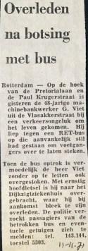19711111 Overleden na botsing.