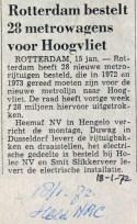 19720118 Metro's voor Hoogvliet.