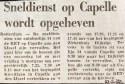 19720223 Sneldienst Capelle opgeheven.