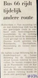 19720317 Lijn 66 andere route.