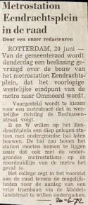 19720620 Eendrachtsplein in de raad.