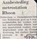19720719 Aanbesteding station Rhoon.