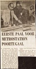 19720809 Eerste paal Poortugaal.
