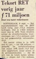 19720908 Tekort RET 1971. (NRC)