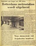 19730428 Metrostation uitgebreid. (Ref. DB)