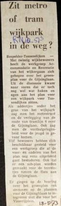 19730518 Wijkpark in de weg. (RN)