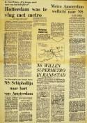 19730623 Rotterdam te vlug met metro. (HVV)