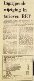 19740411 Ingrijpende wijziging tarieven. (NRC)