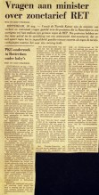 19740830 Vragen zonetarief. (NRC)
