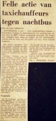 19741104 Actie taxichauffeurs. (NRC)