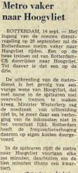 19760914 Vaker naar Hoogvliet. (NRC)