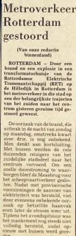 19761109 Metro gestoord. (De Stem)