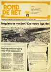 19761201 De metro ligt plat. (Rond de RET)