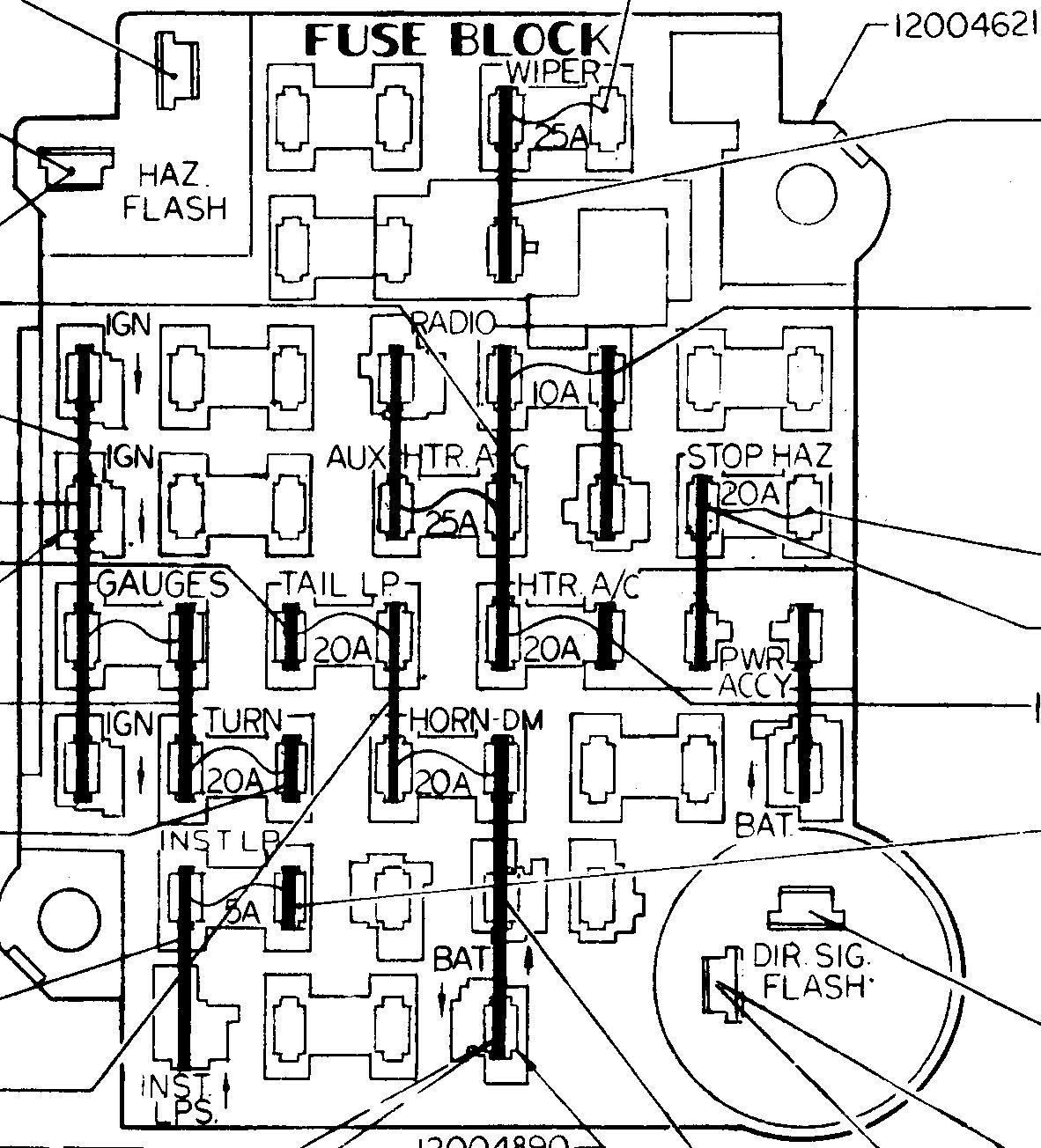 35 Chevy Truck Fuse Panel Diagram