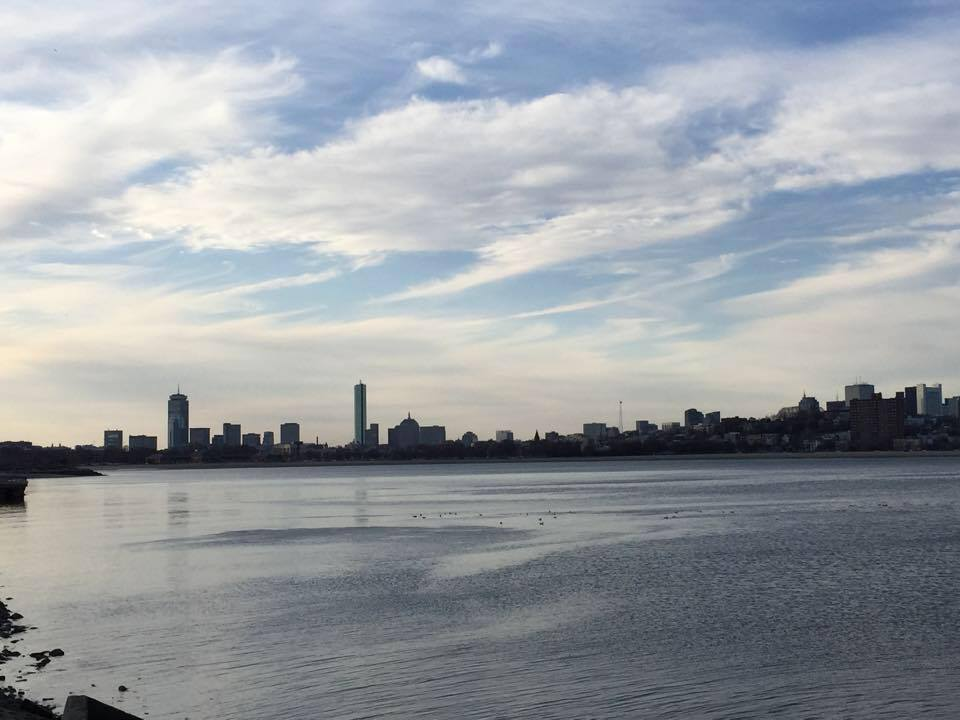The Boston skyline as seen from Dorchester.