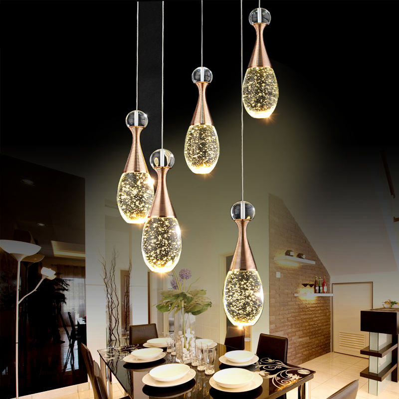 Modern Crystal Pendant Light Fixture