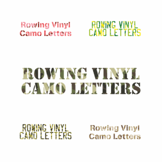 Camo iron on letters