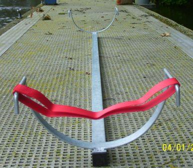Single scull car roof rack