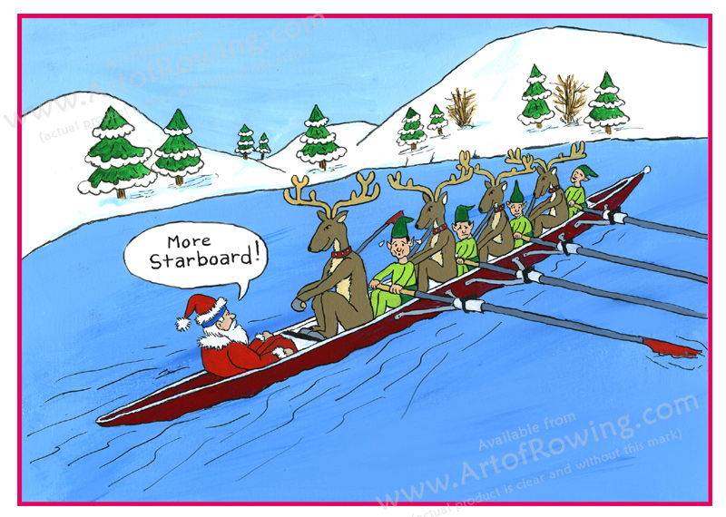 Rowing Santa And Other Christmas Funnies
