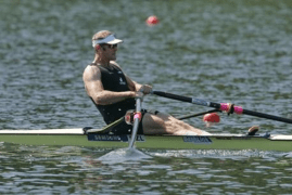 Mahe Drysdale sculling